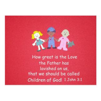 Children with Bible Verse Postcard