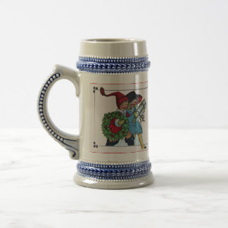 CHILDREN WITH CHRISTMAS GIFTS BEER STEIN