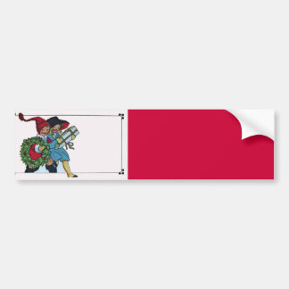 CHILDREN WITH CHRISTMAS GIFTS CAR BUMPER STICKER