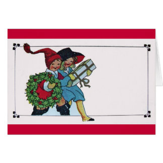 CHILDREN WITH CHRISTMAS GIFTS CARD