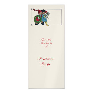 CHILDREN WITH CHRISTMAS GIFTS -gold Card