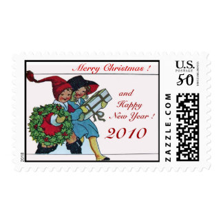 CHILDREN WITH CHRISTMAS GIFTS POSTAGE