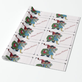 CHILDREN WITH CHRISTMAS GIFTS WRAPPING PAPER
