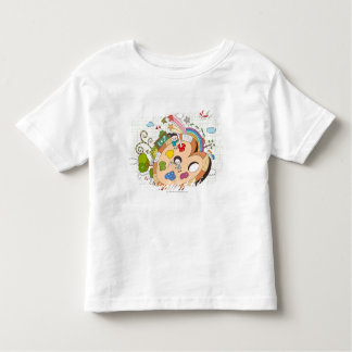 Children with paintbrushes shirt
