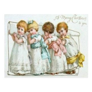 Children With Their List Postcard