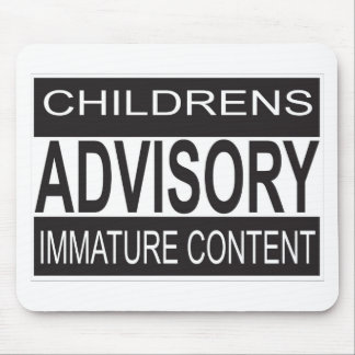 Childrens Advisory Warning Mouse Pad