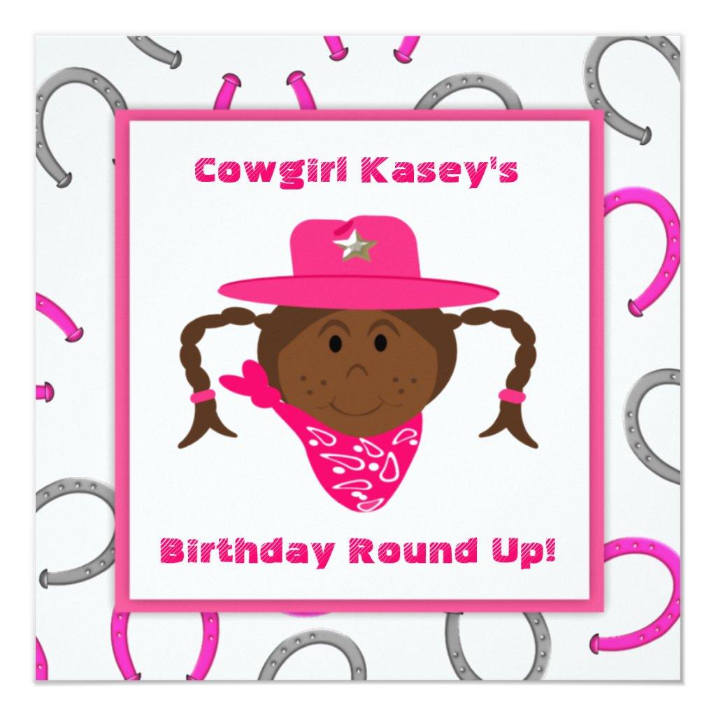 Children's African American Cowgirl Birthday