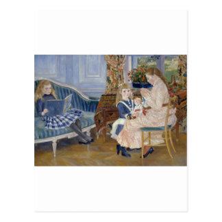 Children's Afternoon at Wargemont 1884 by Renoir Postcard