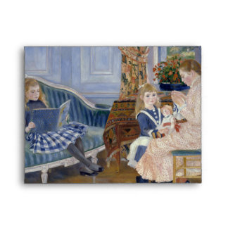 Children's Afternoon at Wargemont by Pierre Renoir Envelope