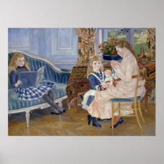 Children's Afternoon at Wargemont by Pierre Renoir Poster