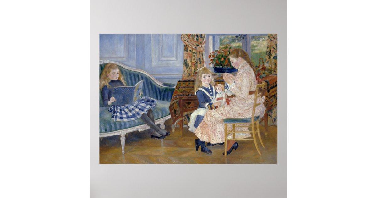 Children's Afternoon at Wargemont Pierre Renoir Poster | Zazzle.com