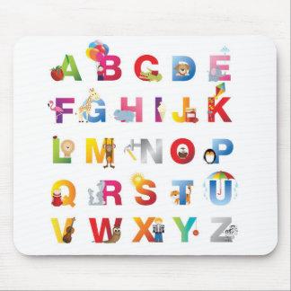 Childrens alphabet mouse mat