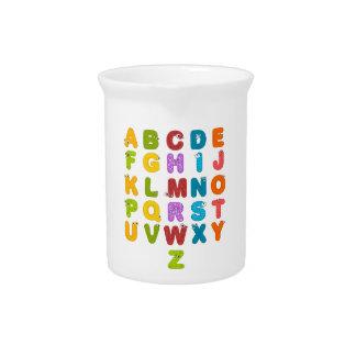 Children's Alphabet Pitcher