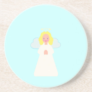 Childrens Angel with Heart Wings and Halo Coaster