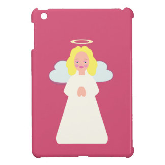 Childrens Angel with Heart Wings and Halo iPad Mini Cases