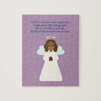 Childrens Angel with Heart Wings and Halo Jigsaw Puzzle
