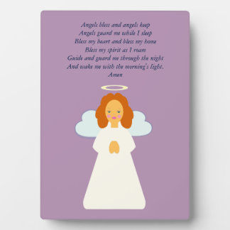 Childrens Angel with Heart Wings and Halo Plaque