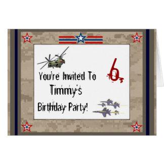 Children's Army Birthday Party Card