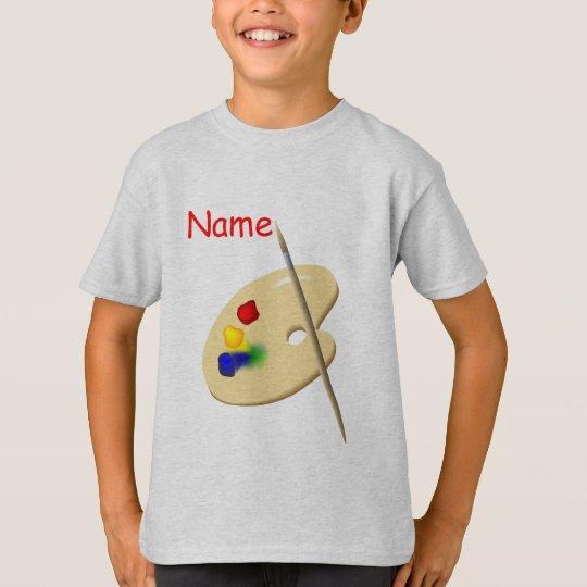 Childrens Artist Palette Kids Grey T-shirt