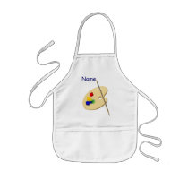 Childrens Artist Palette Your Name Apron Template