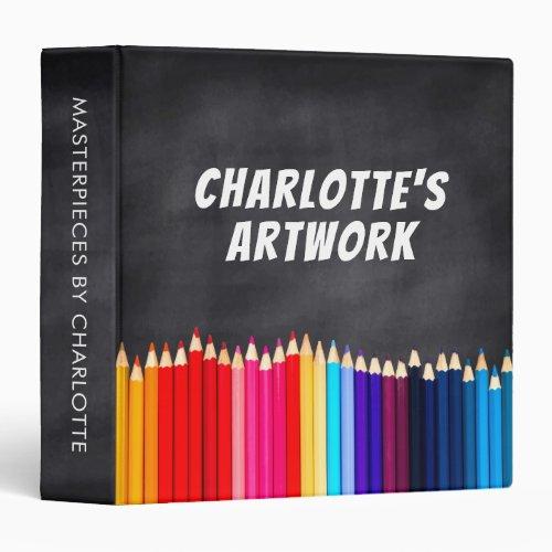 Children's Artwork Artist Keepsake Chalkboard Binder