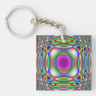 Children's Astronomy Single-Sided Square Acrylic Keychain