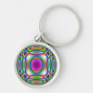 Children's Astronomy Silver-Colored Round Keychain