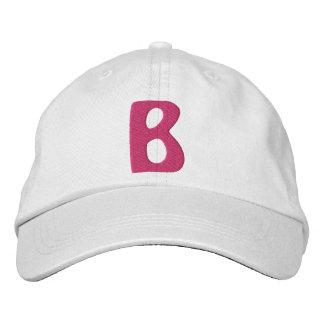 Childrens B Embroidered Baseball Caps