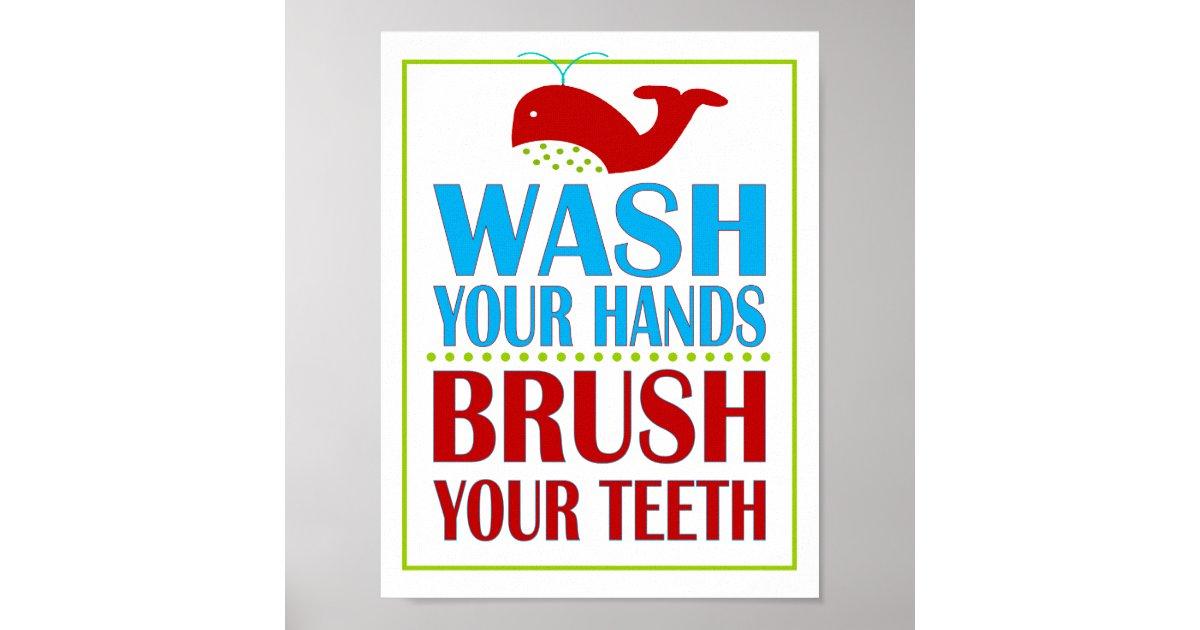 Children's Bathroom Manners Reminder sign Poster | Zazzle