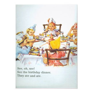 Children's B'Day Card Dick and Jane 1950's