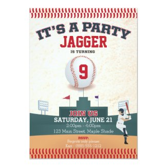 Children's Birthday Invitation (baseball)