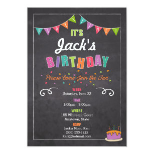 childrens birthday invitation personalize