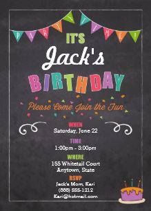 childrens birthday invitations zazzle