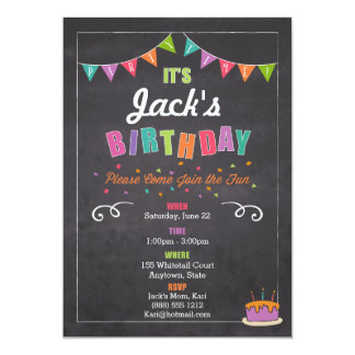 Children's Birthday Invitation (personalize)