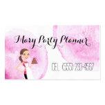 Children's Birthday Party Planner Biz Card Business Card Templates