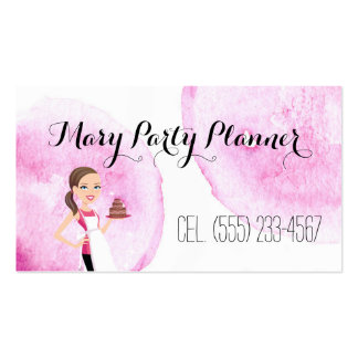 Children's Birthday Party Planner Biz Card Double-Sided Standard Business Cards (Pack Of 100)