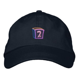 Childrens Block 2 Embroidered Baseball Hat