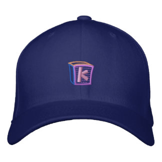 Childrens Block K Embroidered Baseball Cap
