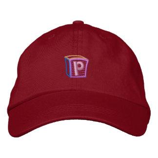 Childrens Block P Embroidered Baseball Hat