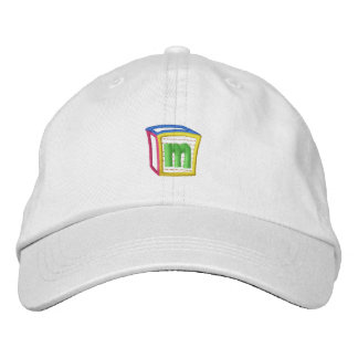 Childrens Block Puff M Embroidered Baseball Caps