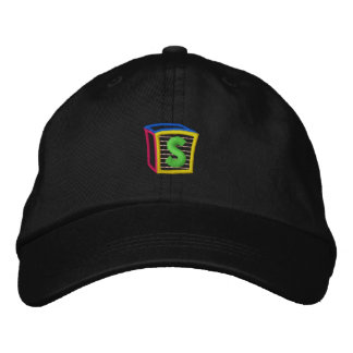 Childrens Block Puff S Embroidered Baseball Cap