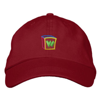 Childrens Block Puff W Embroidered Baseball Hat