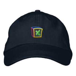 Childrens Block Puff X Embroidered Baseball Hat