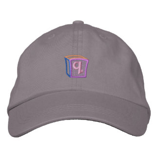 Childrens Block Q Embroidered Baseball Cap