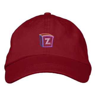 Childrens Block Z Embroidered Baseball Hat