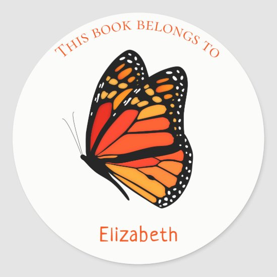 children's book stickers with Monarch Butterfly