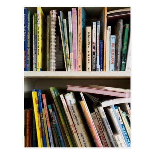 Childrens Bookshelf Postcard
