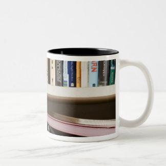 Childrens Bookshelf Two-Tone Coffee Mug