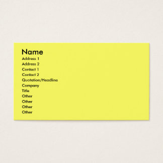 Childrens Business Profile Seating Card