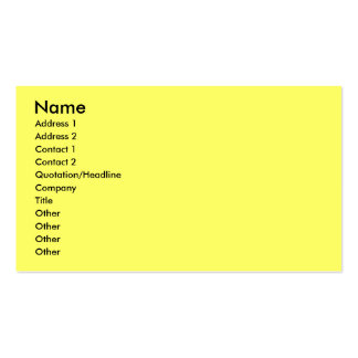 Childrens Business Profile Seating Card Business Card